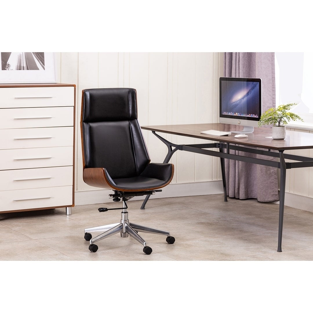 Shop Porthos Home Favian Swivel Office Chair Tall Back Pu Leather On Sale Overstock 28293226