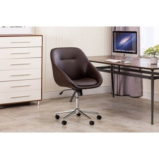 Peachy Porthos Home Hayes Swivel Office Chair Chrome Base Pu Leather Overstock Com Shopping The Best Deals On Office Chairs Gmtry Best Dining Table And Chair Ideas Images Gmtryco