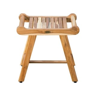 "Link to 20"" EcoDecors Compact SensiHarmony Solid Teak Shower Bench with LiftAide Arms in an EarthyTeak Finish Similar Items in Shower Stools"