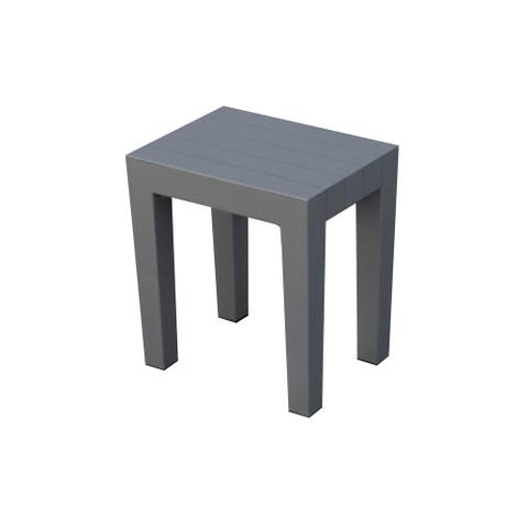 2 DesignByIntent Recyclable Polypropylene Indestructible Shower Stools- Laughing Gull Gray Color- Set of 2