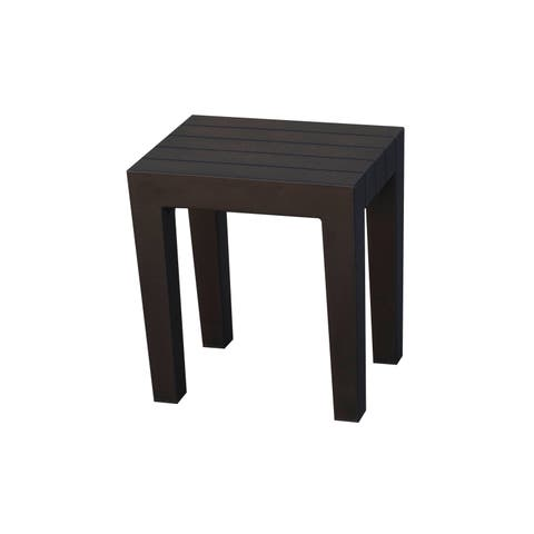 DesignByIntent Indestructible Polypropylene Recyclable Shower Stool in WoodLand Brown
