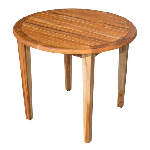 Havenside Home Cabo 36-inch Round Solid Teak Table