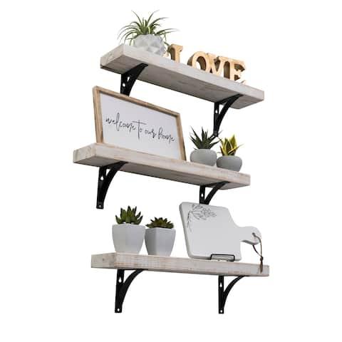Handmade Industrial Grace Simple Urban Bracket Shelf, Set of 3
