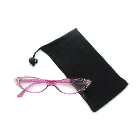 Rhinestone Colorful Cat Eye Reading Glasses(Crystal Purple)R223