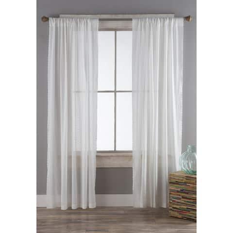 Porch & Den Eleanor White Eyelet Curtain Panels (Set of 2)