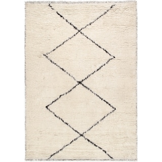Pasargad Home Casablanca Moroccan Collection Hand-Knotted Wool Area Rug