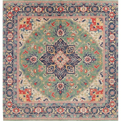 "Hand Knotted Traditional Oriental Kazak Pakistani Area Rug Square - 13'0"" x 13'3"" Square"