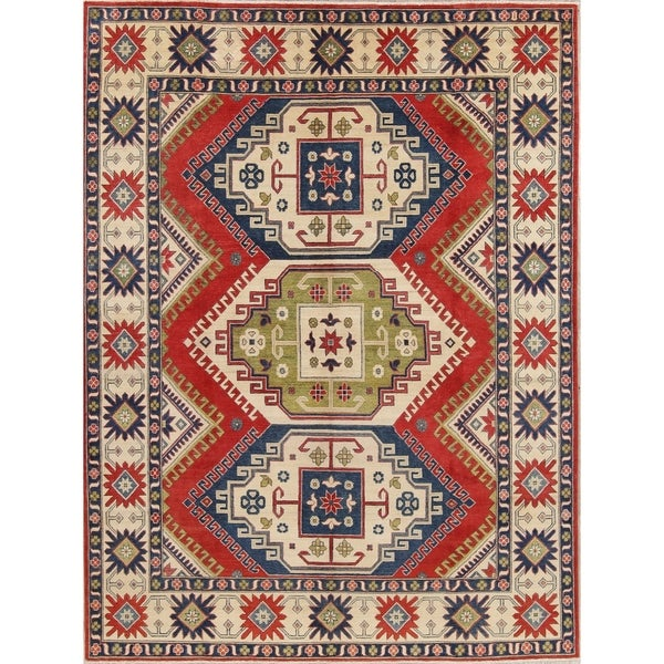 "Kazak Oriental Hand-Knotted Wool Southwestern Pakistani Area Rug - 11'6"" x 8'4"""