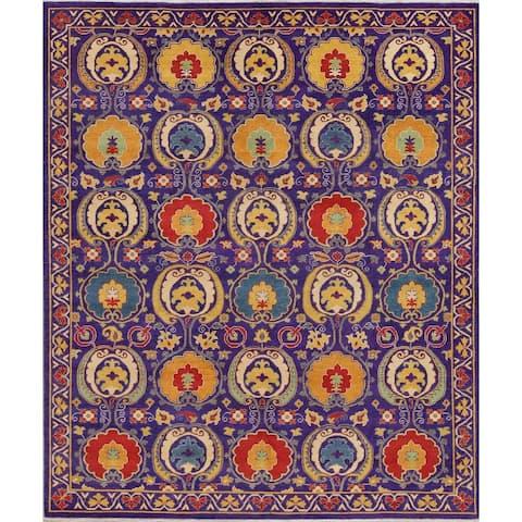 "Kazak Oriental Hand-Knotted Wool Traditional Pakistani Area Rug - 9'11"" x 8'3"""