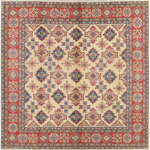 "Oriental Kazak Hand-Knotted Wool Pakistani Traditional Area Rug - 10'1"" x 9'10"" Square"