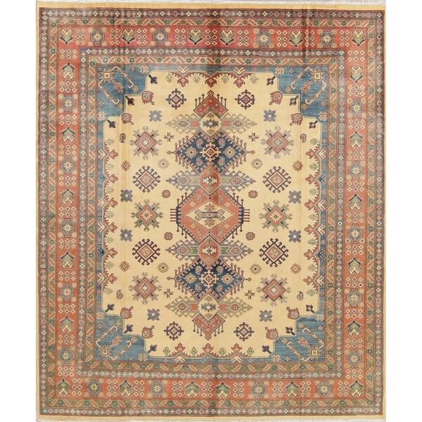 "Oriental Kazak Traditional Hand-Knotted Pakistani Wool Area Rug - 10'0"" x 8'2"""