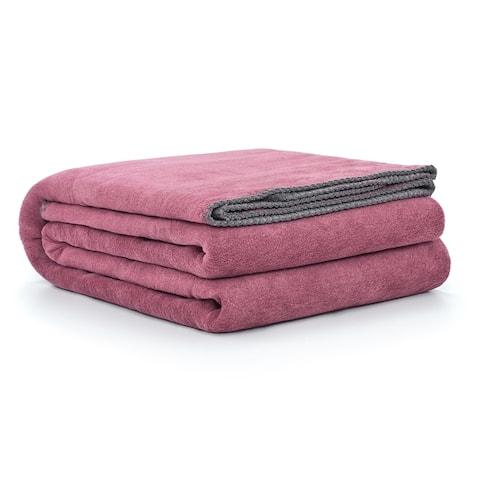 Reversible Luxury Cotton Blend Throw Blanket