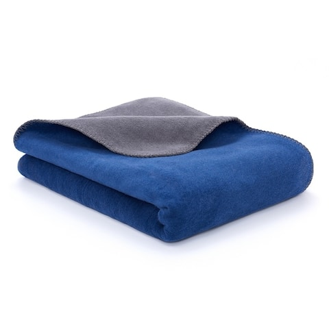 Reversible Luxury Cotton Blend Throw Blanket