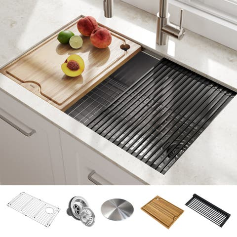 KRAUS Kore Workstation Undermount Stainless Steel Kitchen Sink