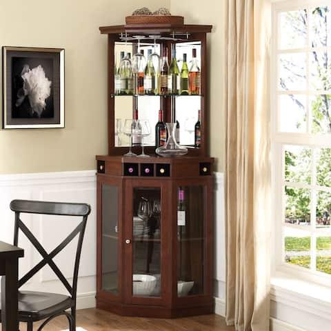 Home Source Arms Corner Wine Storage Bar Unit N A