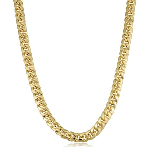 Men's 14k Yellow Gold 9.4 millimeter Miami Cuban Link Necklace (22 inches)