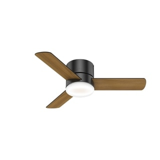 """Hunter 44"""" Minimus Low Profile Ceiling Fan with LED Light Kit and Handheld Remote"""