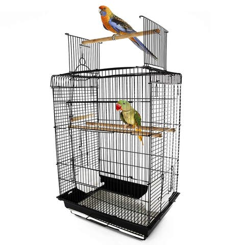 PawHut Steel Open Play Top Bird Cage - N/A