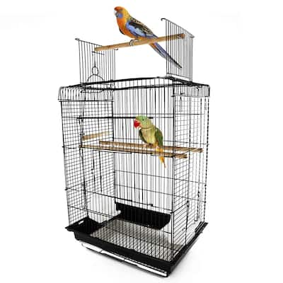 PawHut Steel Open Play Top Bird Cage