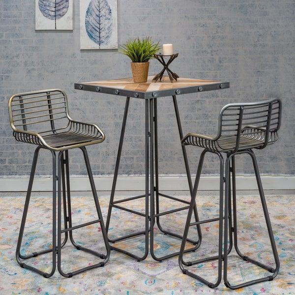 Home Source Badino 3-piece Counter-height Dining Set