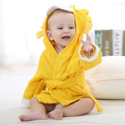 Cute lovely Children's Bathrobe Baby Bath Towel Home clothes for Baby with Hat Cotton Towel Baby Bath Towel