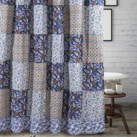 Greenland Home Fashions Pandora Blue Shower Curtain