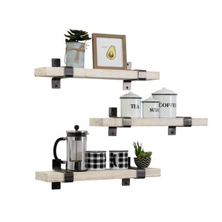 The Gray Barn Guernsey Handmade Wrap Bracket Utility Shelf (Set of 3)