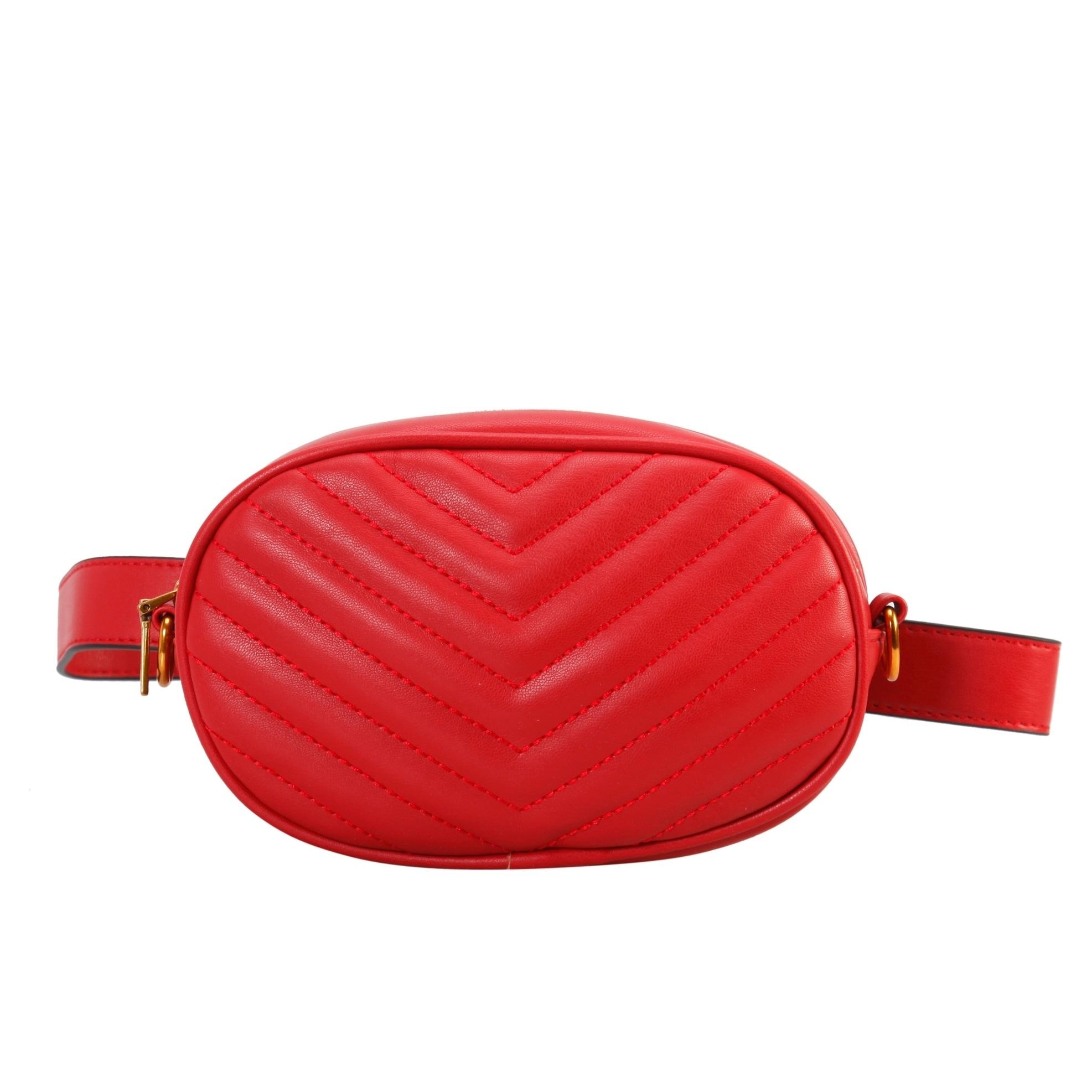2 Ways To Wear it Womens Waist Bag Shoulder Crossbody Belt Bag Fanny Pack Black