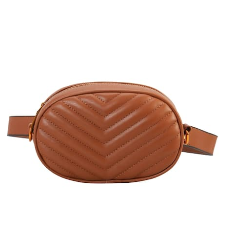 Diophy Fashion Two Ways Use Fanny Pack Womens Chic Waist Bag OSZ-7113