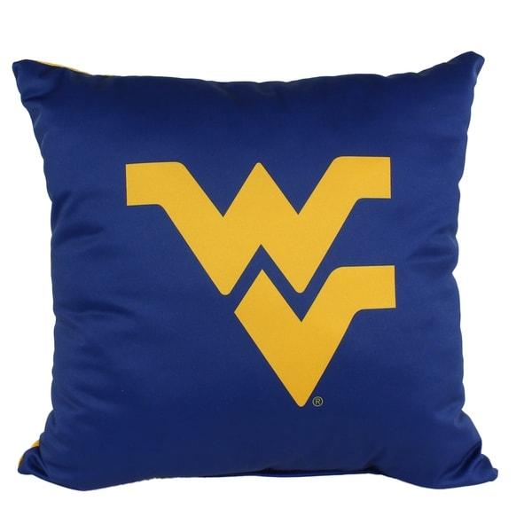 West Virginia Mountaineers 16 Inch Decorative Throw Pillow