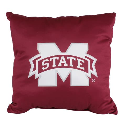 Mississippi State Bulldogs 16 Inch Decorative Throw Pillow