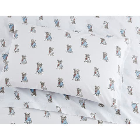 Porch & Den Goff Pug Pattern Sheet Set