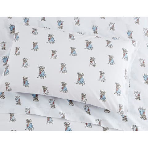 Porch & Den Goff Pug Pattern Sheet Set