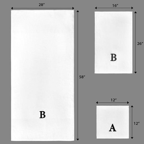 Elegant MONOGRAM design for towels complete alphabet and frame 5x7hoop #1143