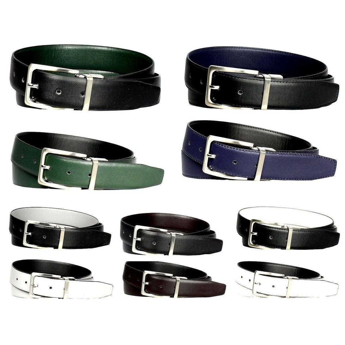 Stacy Adams Geuine Leather Croc Embossed Men/' Belt One Size Fits All4 Colors