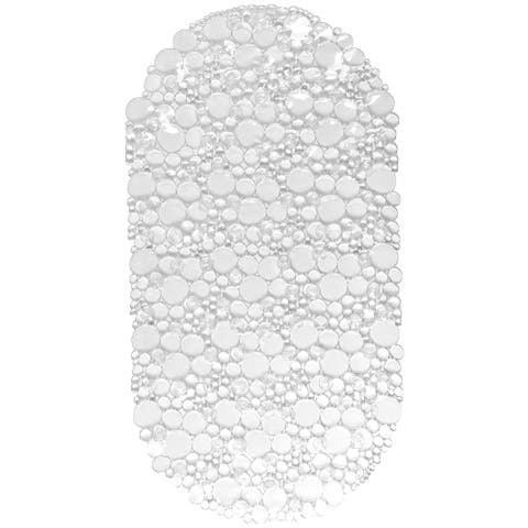 Non Skid Bathtub Mat Oval Bubbles Bath Mat 27 x 14