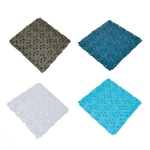 Non Skid Bath Shower Oval Bubbles Bath Mat 20 x 20