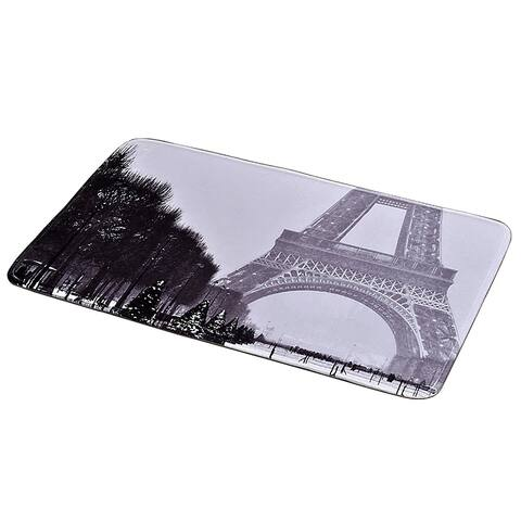 Parisienne Collection Printed Microfiber Mat Bath Rug