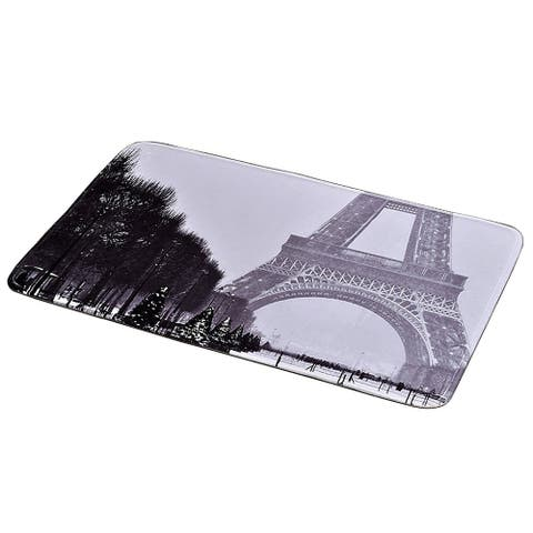 Parisienne Collection Printed Microfiber Mat Bath Rug