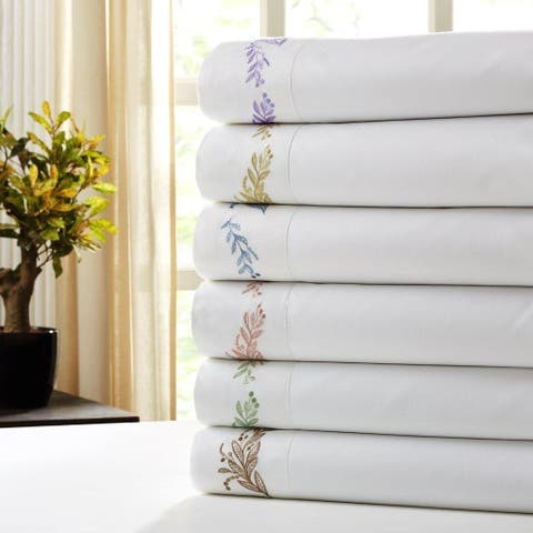 1000 Thread Count Embroidered Branch & Berries Sheet Set