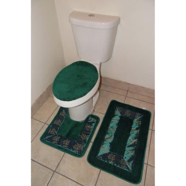 Bathroom Rug Set Hunter Green