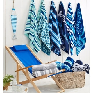 Link to 2 Pack 100% Cotton Jacquard Plush Nautical Beach Towel Similar Items in Towels