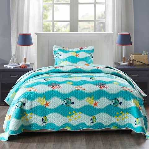 Porch & Den Lumbee Aquatic Quilt Set