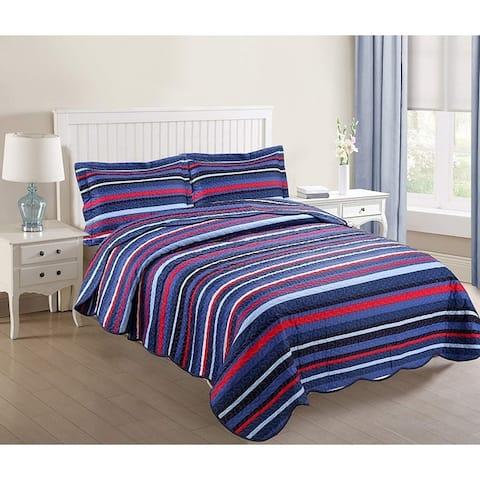 Porch & Den Eliander Striped Quilt Set