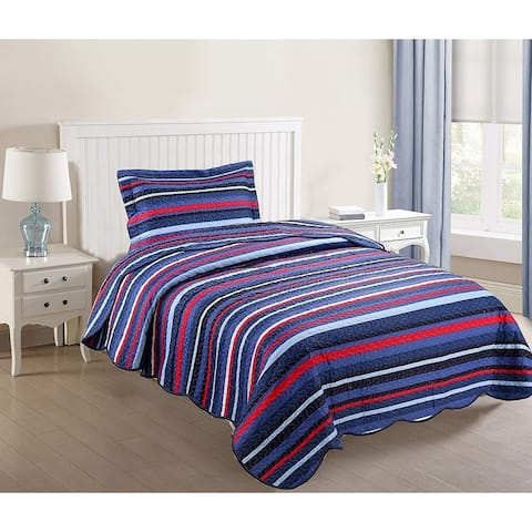 Porch & Den Eliander Striped Quilt Set