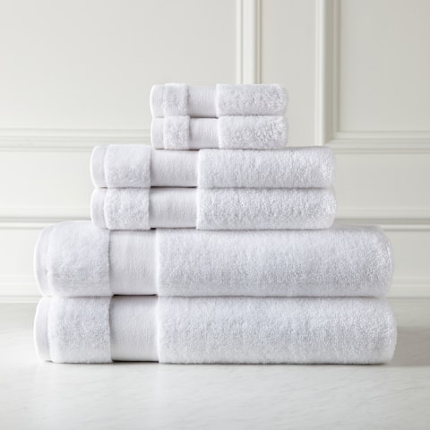 Premium Quality 100 percent Combed Cotton, 6-Piece Towel Set