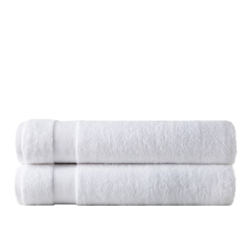 Premium Quality 100 percent Combed Cotton, Set of 2 Oversized Bath Sheets