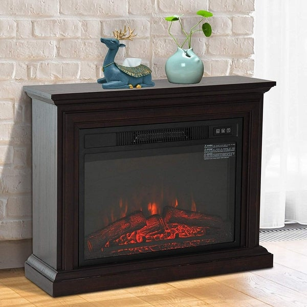 HOMCOM 1400W Freestanding LED Electric Fireplace Heater