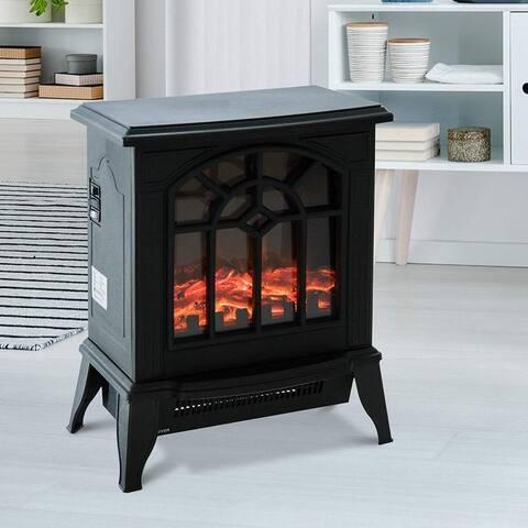 HOMCOM 1500W Freestanding Indoor Electric Fireplace Heater