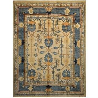 Handmade One-of-a-Kind Mahal Wool Rug (India) - 9'1 x 12'9
